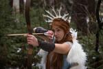 Skadi - winter goddess stock
