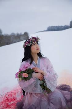 Asian Beauty in Winter - Stock