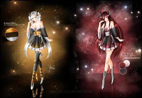Kanagi Sisters (OCs) by Yahone