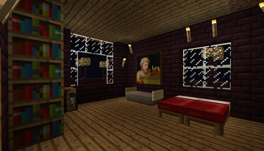 Minecraft nikolas bedroom by minecrapcreators on deviantart for Bedroom ideas on minecraft