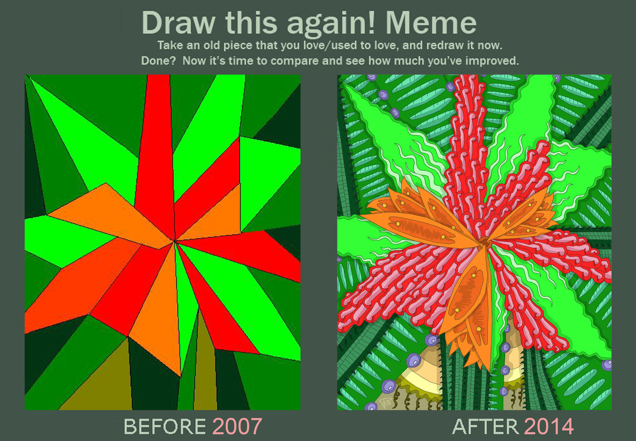 Draw This Again Abstract Flower By Brainstormbwstyle Draw This Again Abstract  Flower By Brainstormbwstyle On Deviantart