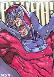 aceo Magneto sketch card for sale