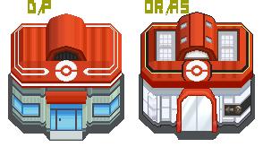 OR/AS Pokemon Center in 4Gen Style by Matwert