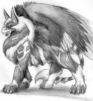 JhuGryffe-Winter Coat Sketch by FerianMoon