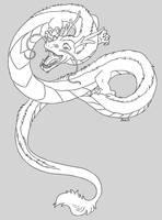 Free Dragon Lineart by FerianMoon
