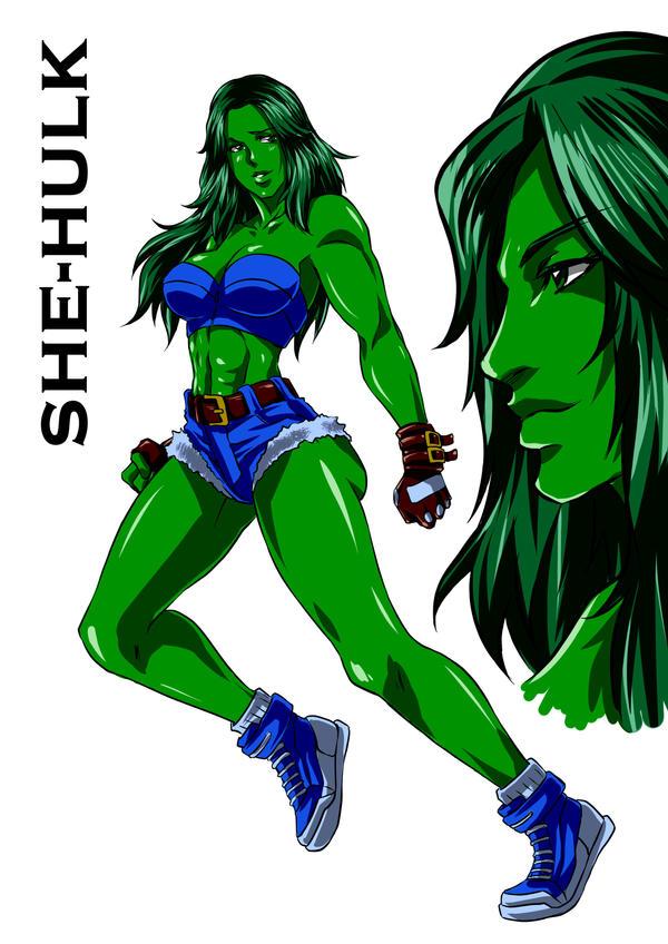 She-Hulk Sketch by DoctorZexxck on DeviantArt
