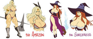 Dragon's crown - Amazon and Sorceress concepts