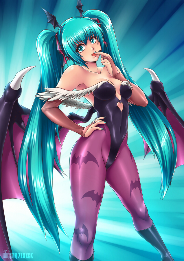 Miku Morrigan version 2 by DoctorZexxck