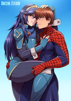 Lucinas and Spiderman Hug Commission