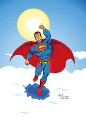 Superman redesign, in colour.
