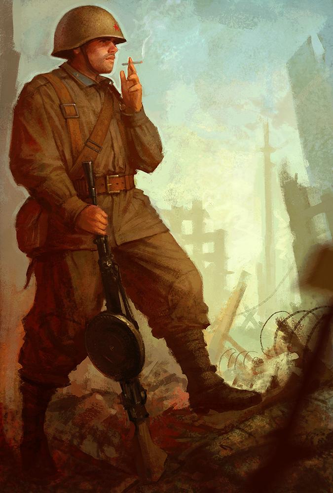 Soviet machinegunner by slipgatecentral