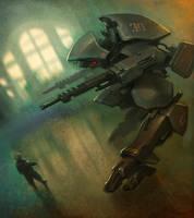 'Hound' walker bot by slipgatecentral