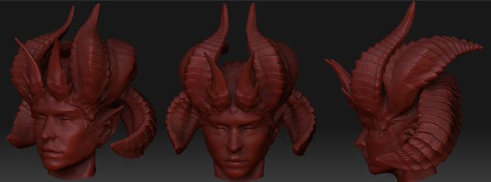 daemoness head sculpt by slipgatecentral