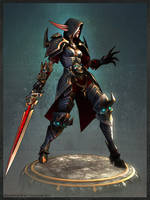 Blood Elf Death Knight by slipgatecentral
