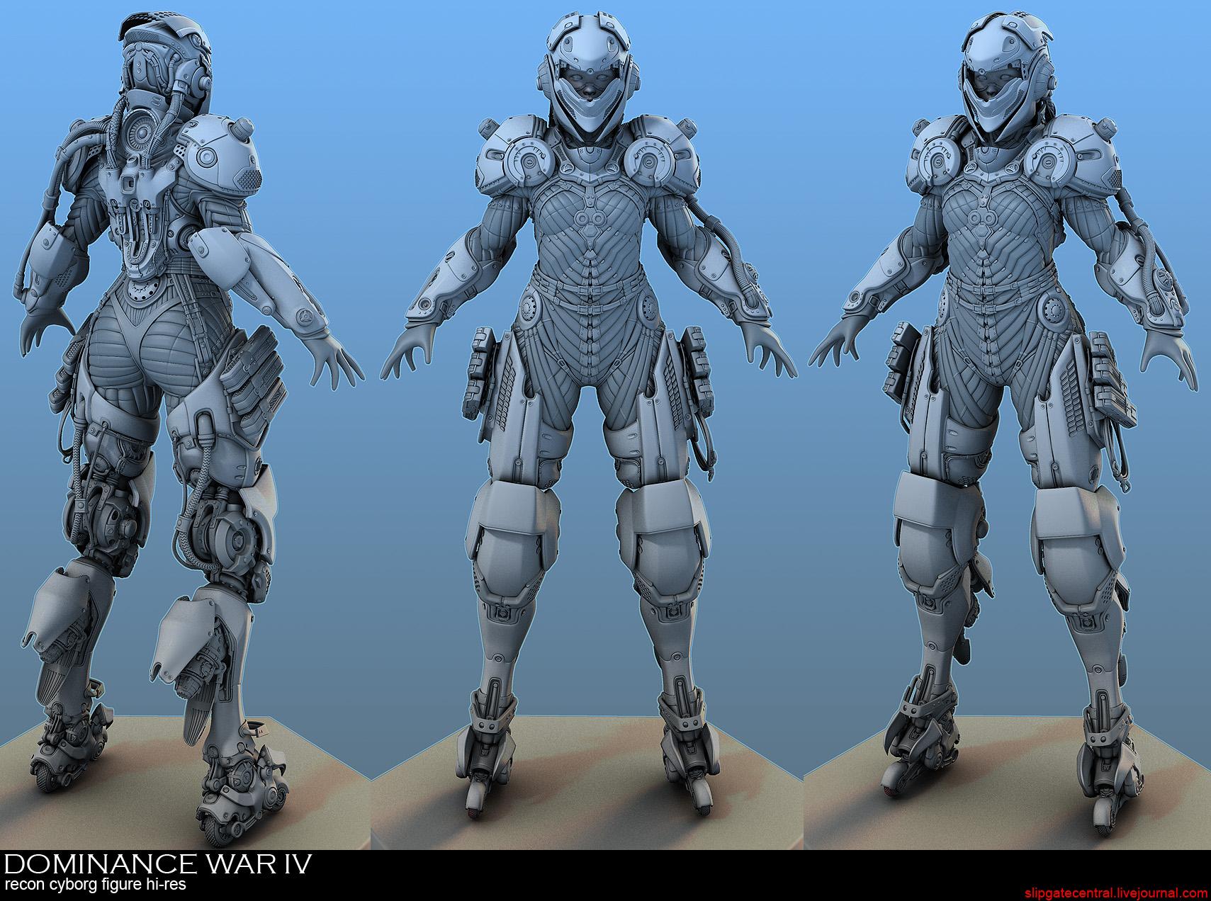 Dominance War IV - M410XE cyborg by Yee-Ling Chung | 2D | CGSociety