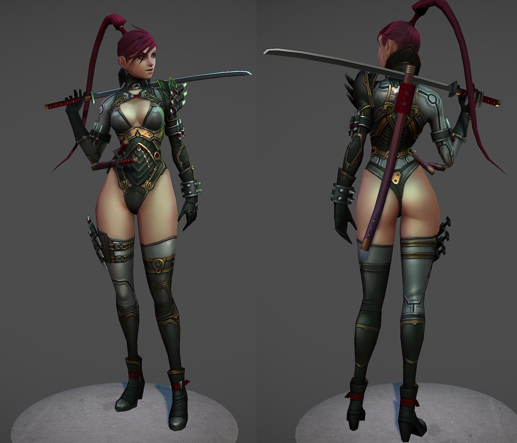 Ninja booty by slipgatecentral