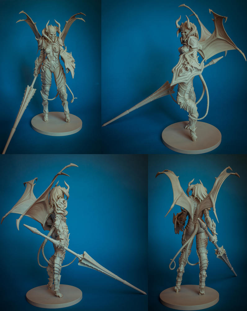 Demon Lancer Chick resin kit by slipgatecentral