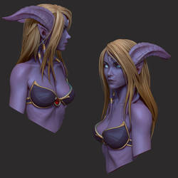 Draenei bust 2 by slipgatecentral