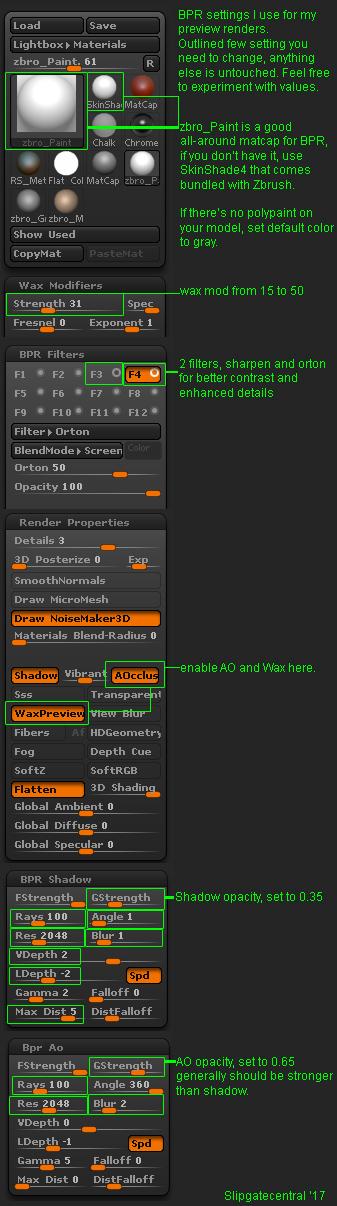 BPR settings by slipgatecentral