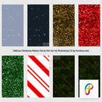 Free Christmas Photoshop Pattern Set 2400px 300dpi