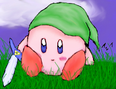 Link Kirby by Ms-Silver