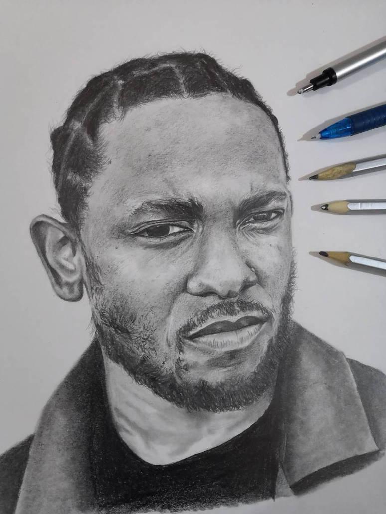 Kendrick lamar graphite pencil sketch by himanshu69
