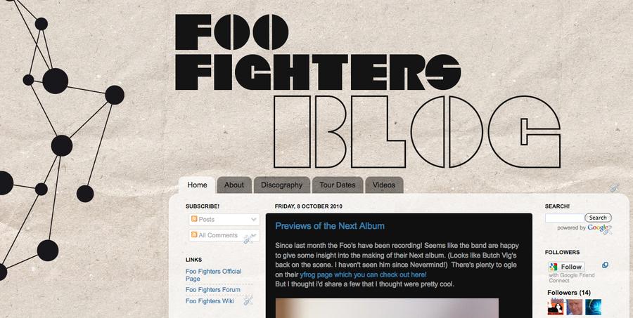 Foo Fighters Blog by Taserhead