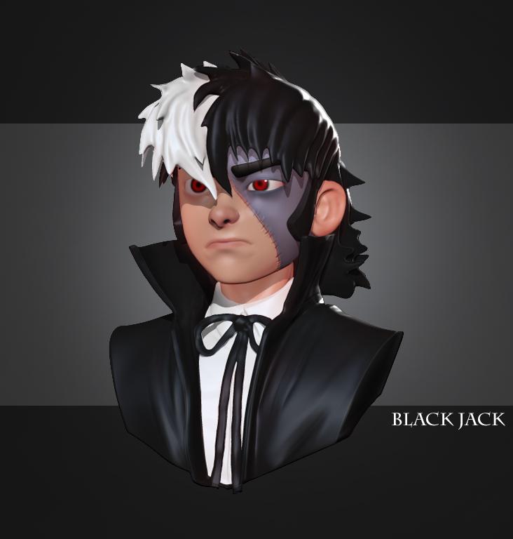 Black Jack, Zbrush Sketch by angryzenmaster