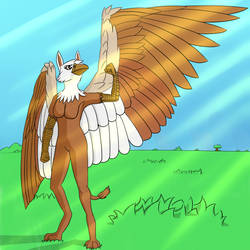 A mighty gryphon by TinyProto