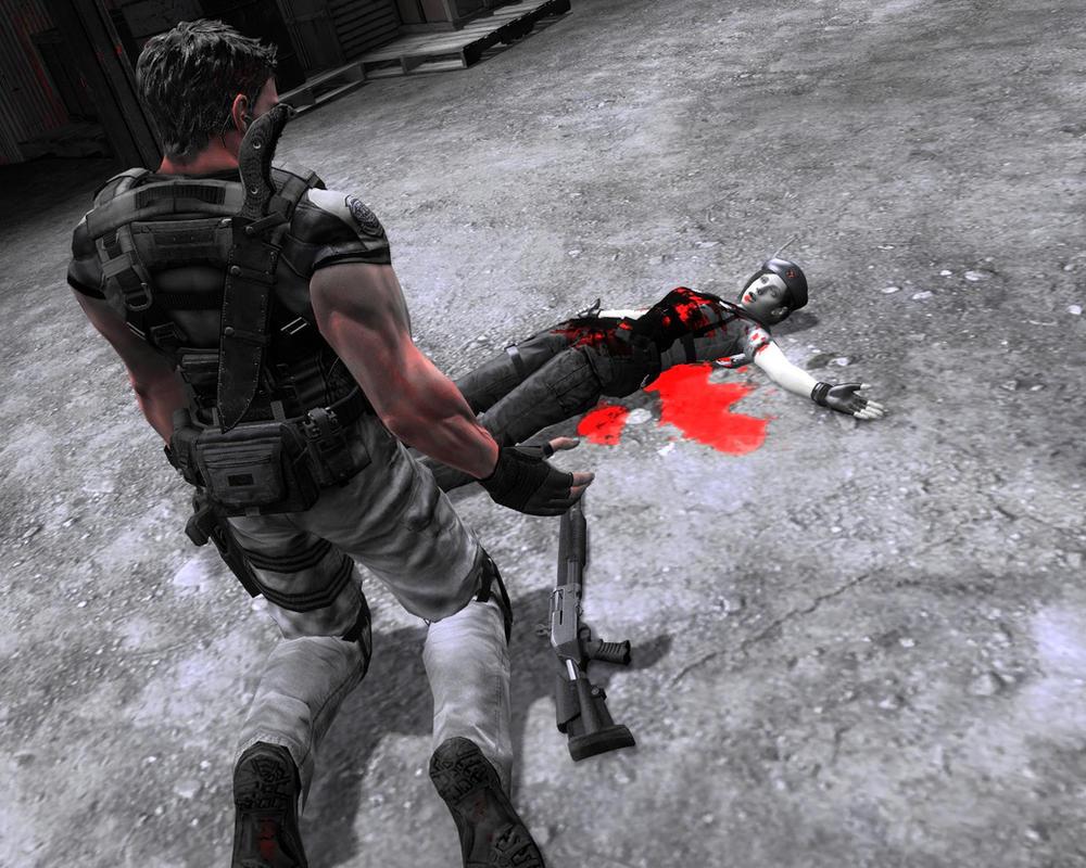 Jill Death Resident Evil Chris Redfield By Tincholox On