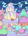 Creamy Cake Mountain