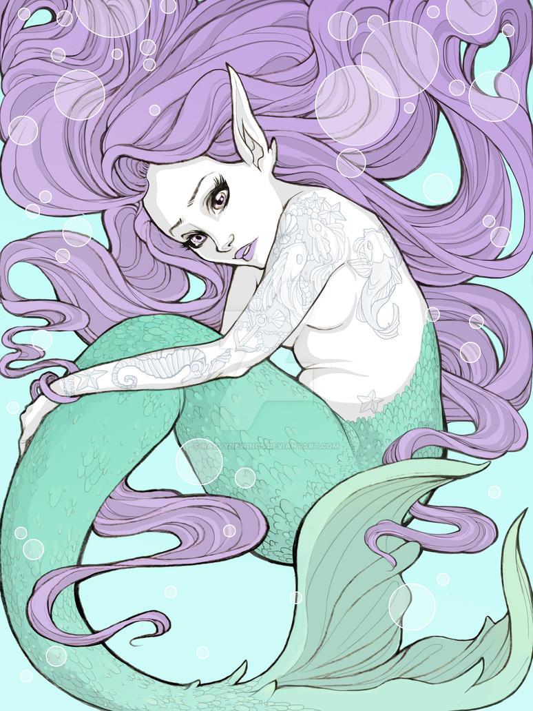 Mermaid Aquarium by raevynewings