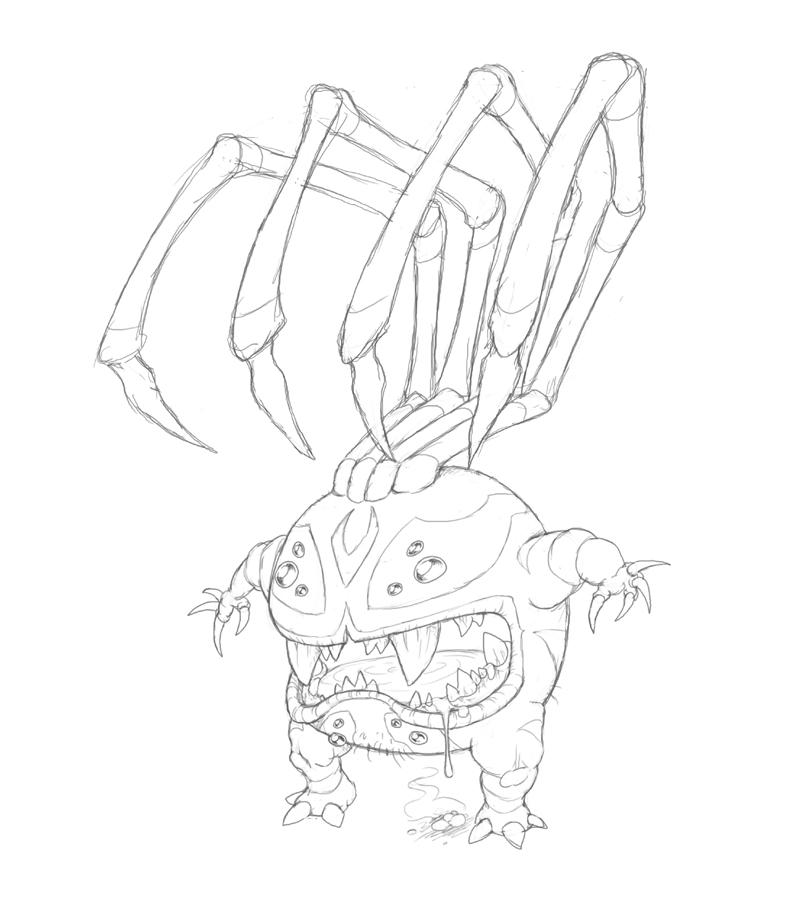 SpiderBytez_Sketch by Owl-Robot on DeviantArt