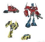 Toon Optimus and Bee