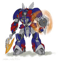 Transformers4 Optimus Prime_Redesigned by Owl-Robot