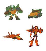 Toon Roadbuster n Hooligan by Owl-Robot