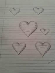 3D Hearts - Line Paper by mimi-memo
