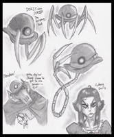 DORIS doodles by PurpleRAGE9205