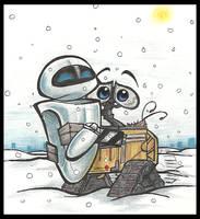 WALL.ExEVE.1: Winter love by PurpleRAGE9205
