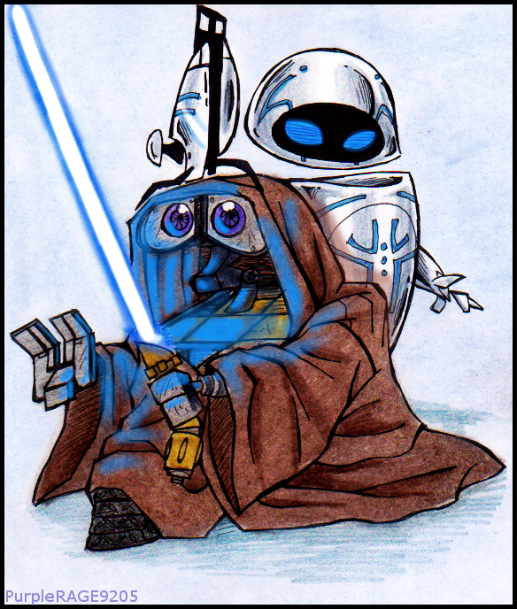 WALL.E and STAR WARS by PurpleRAGE9205 on DeviantArt