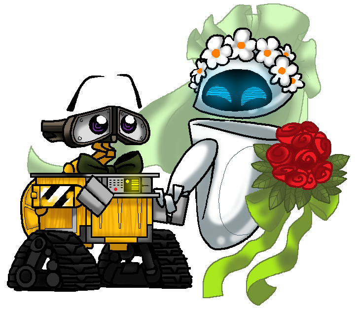WALLE and EVEs wedding day by PurpleRAGE9205 on DeviantArt