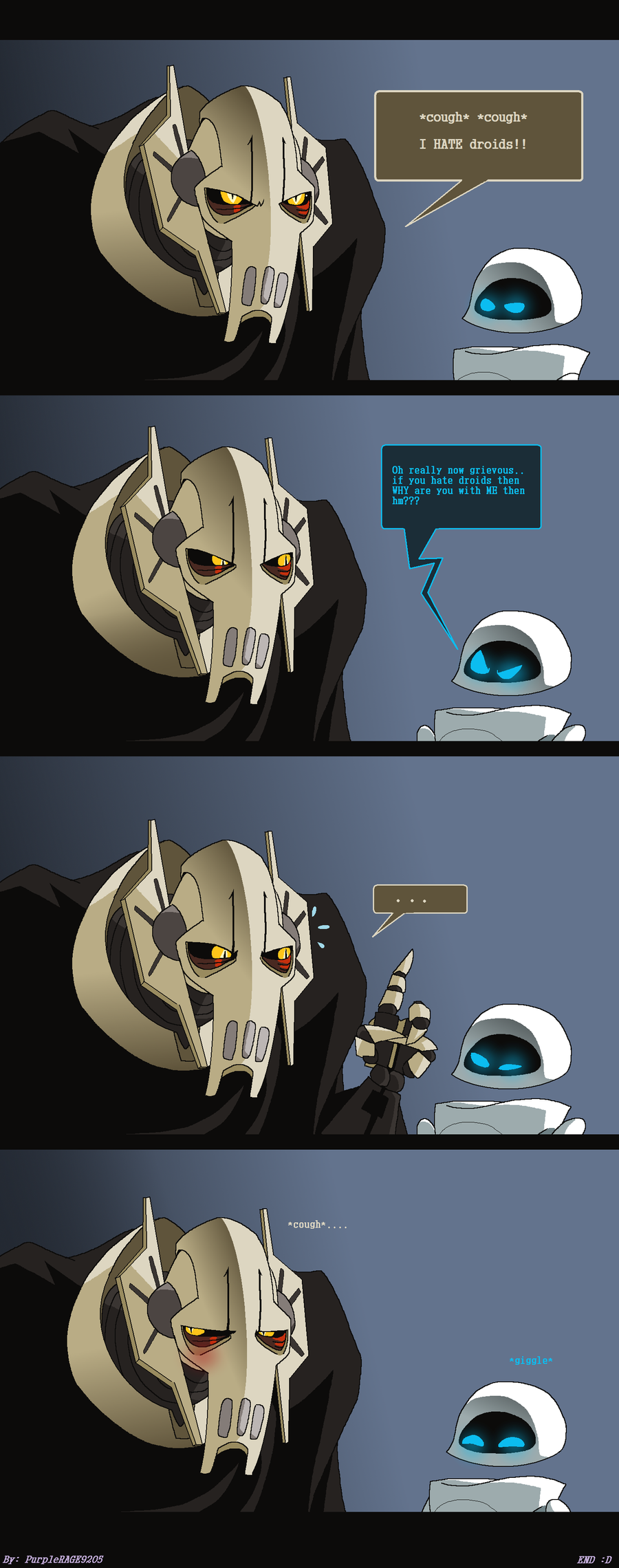 Grievous HATES droids -Comic- by PurpleRAGE9205