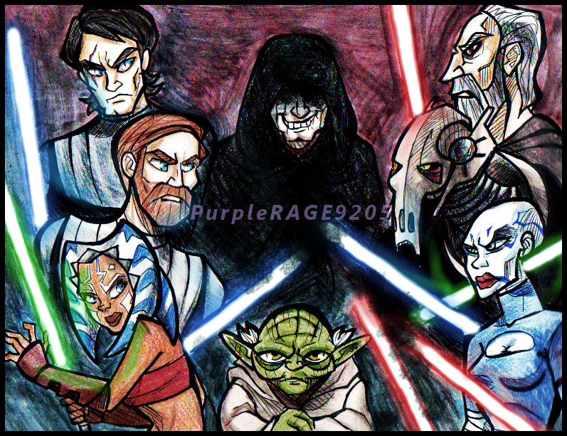 Star Wars the Clone Wars by PurpleRAGE9205