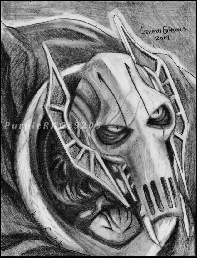 Grievous Pencil Portrait by PurpleRAGE9205