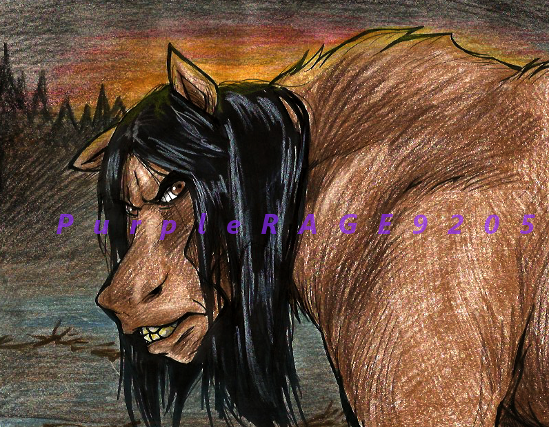 Angry Moose by PurpleRAGE9205
