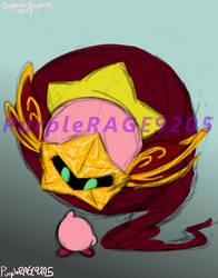 Little kirby meets Older kirby doodle by PurpleRAGE9205
