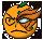 Orange-kun smiley by ecclaed