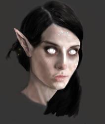 Tribal Dark Elf by MajinMetz