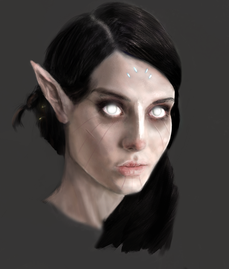 Tribal Dark Elf by MajinMetz
