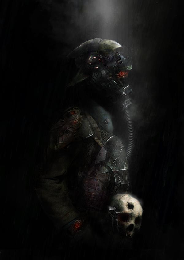 The Visitor (in the dark) by MajinMetz